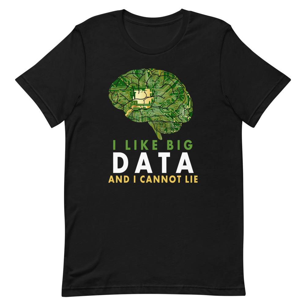 Allroundabout I Like Big Data And I Cannot Lie Computer Nerd Gif T-shirt Heather Midnight Navy / 3XL