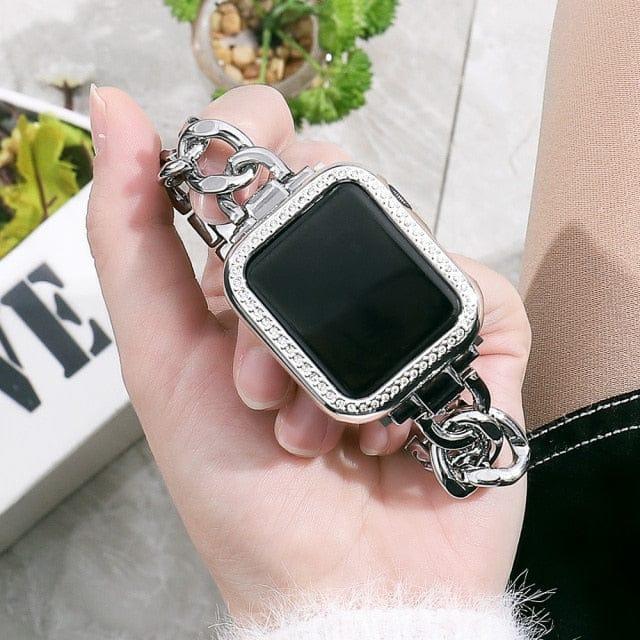 VVSJewelry VVS Jewelry Cuban Apple Watch Band + FREE Case
