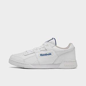 Reebok Men's Reebok Workout Plus Casual Shoes - White/Royal - Size: 6.0