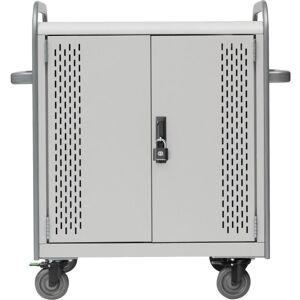 "Bretford 36-Unit Device Cart - Lockable Handle - 4 Casters - 5"" Caster Size - Polypropylene, Steel, Stainless Steel - 41"" Width x 26"" Depth x 43"" Heig"