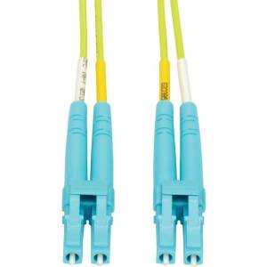 Tripp Lite LC to LC Multimode Duplex Fiber Optics Patch Cable, 25 Meter - 100Gb, 50/125, OM5, LC/LC, Lime Green - Patch cable - LC multi-mode (M) to L