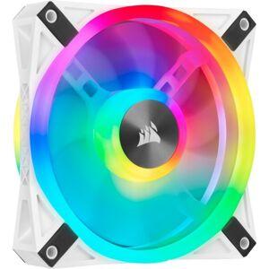 """Corsair iCUE QL120 RGB 120mm PWM White Fan - Single Pack - 1 Pack - 4.72"""" Maximum Fan Diameter - 312.7 gal/min Maximum Airflow - 1500 rpm - 26 dB(A) N"""