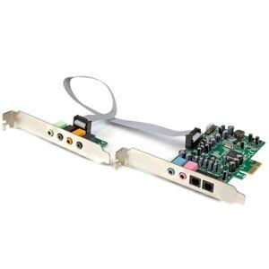 StarTech.com 7.1 Channel Sound Card - PCI Express - 24-bit - 192KHz - 7.1 Sound Channels - Internal - C-Media CM8828 - PCI Express x1 - 92 dB - S/PDIF