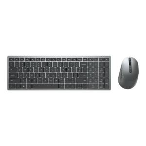 Dell Multi-Device Wireless Keyboard and Mouse Combo KM7120W - Keyboard and mouse set - wireless - 2.4 GHz, Bluetooth 5.0 - titan gray