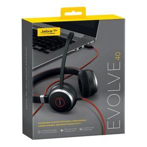 Jabra EVOLVE 40 UC SME Headset - Stereo - Mini-phone (3.5mm) - Wired - Over-the-head - Binaural - Supra-aural - Noise Canceling