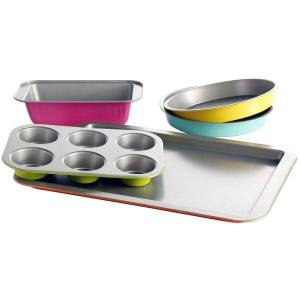 Gibson Home Color Splash Lyneham 5-Piece Carbon Steel Bakeware Set