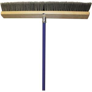 """Genuine Joe All Purpose Sweeper - 18"""" Handle Width - 60"""" Handle Length - Metal Handle - 1 Each - Gray"""