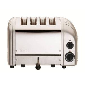 Dualit� New Gen 4-Slice Extra-Wide-Slot Toaster, Metallic Silver