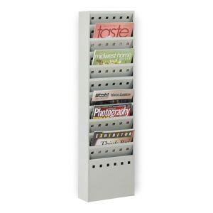 Safco� 11-Pocket Steel Magazine Rack, Gray