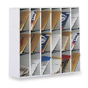 """Safco� Wood Mail Sorter, 32 3/4""""H x 33 3/4""""W x 12""""D, Gray"""