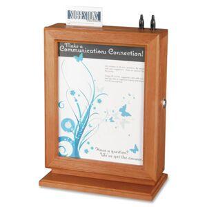 "Safco� Wood Suggestion Storage Box, 14 1/2"" x 10 1/2"" x 5 3/4"", Cherry"