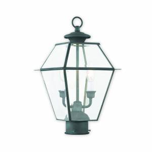 Livex Lighting Westover 16 Inch Tall 2 Light Outdoor Post Lamp Westover - 2284-61 - Traditional