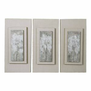Uttermost Triptych Trees Painting Triptych Trees - 41426 - Traditional