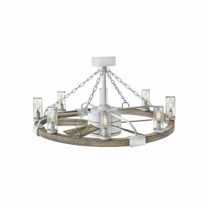 Hinkley Lighting Sawyer Outdoor Rated 36 Inch Ceiling Fan with Light Kit Sawyer - 902928FMM-LWD - Transitional