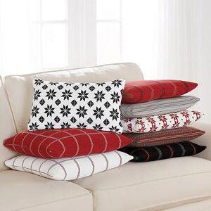 "Ballard Designs ""Scandi Holiday Pillow Covers Fair Isle Red 20"""" x 20"""" - Ballard Designs"""