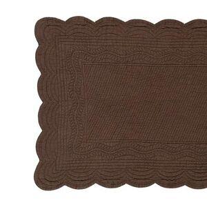 Ballard Designs Marseille Quilted Linen Table Runner - Select Color Chocolate - Ballard Designs