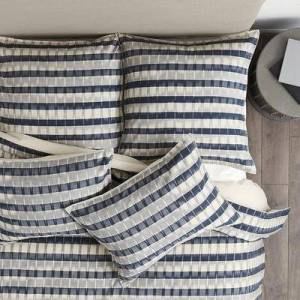 Ballard Designs Natalya Ikat Stripe Duvet Cover Gray Twin - Ballard Designs