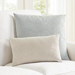 "Ballard Designs ""Posey Dotted Jacquard Pillow Cover Spa 12"""" x 20"""" - Ballard Designs"""
