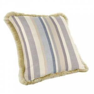 Ballard Designs Outdoor Fringed Pillow - Select Colors Windowpane Spa Sunbrella - Ballard Designs