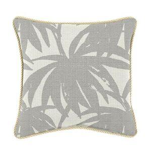 Ballard Designs Corded Pillow 12 inch x 20 inch - Select Colors Windowpane Granite - Ballard Designs
