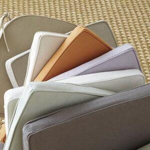 Ballard Designs Suzanne Kasler Signature 13oz Linen Cushion Cover Blanc Large - Ballard Designs