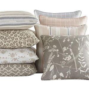 "Ballard Designs ""Outdoor Fashion Throw Pillow Robins Stripe Spa Sunbrella 12"""" x 20"""" - Ballard Designs"""