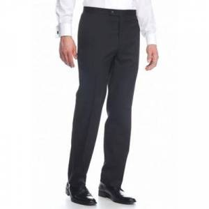 Madison Black Tuxedo Flat Front Separate Pants
