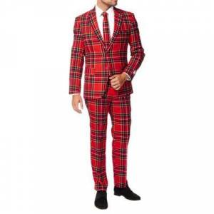 OppoSuits Red The Lumberjack Plaid Suit