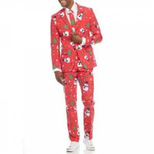 OppoSuits Bright Red Christmaster Suit