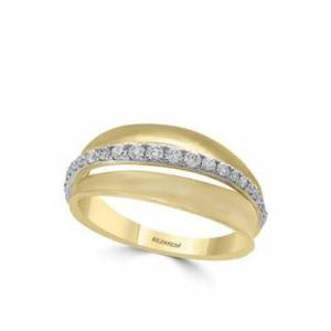Effy Ylw/Wht Gold 14K White and Yellow Gold Diamond Ring