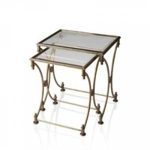 Butler Specialty Company Gold Beverly Nesting Tables
