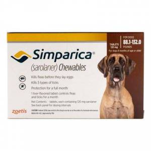 Simparica For Dogs Above 88 Lbs (Red) 3 Pack