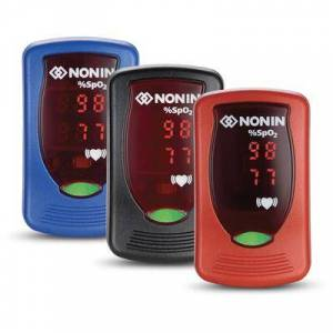 Nonin Medical In Stock - Nonin Onyx Vantage 9590 Finger Adult/Pediatric Pulse Oximeter. #1 Professional Oximeter Made in USA - Includes Free Carrying Case