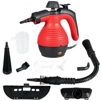 Costway 1050W Multi-Purpose Handheld Pressurized Steam Cleaner-Red