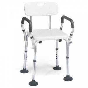 Costway Shower Chair Spa Bathtub with Removable Armrests and Back