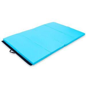 "Costway ""Costway 4' x 6' x 2"""" PU Thick Folding Panel Exercise Gymnastics Mat-Blue"""