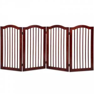 "Costway ""Costway 4 Panels Folding Freestanding Wood Pet Dog Safety Gate-36"""""""