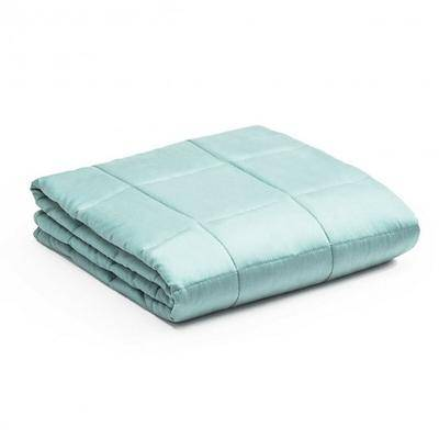 Costway 20lbs Premium Cooling Heavy Weighted Blanket-Light Green