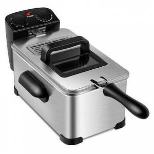 Costway 3.2 Quart Electric Stainless Steel Deep Fryer with Timer