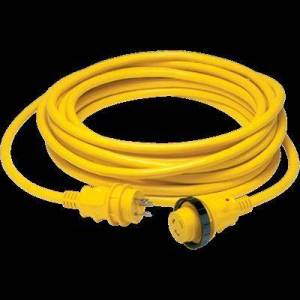 "Marinco """"""Marinco Water Sports Equipment Cord Set 30A 25ft Yellow LED New Condition Model: 199117"""""""