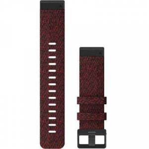 """Garmin Watch Accessories Quick Fit 22 Watch Band Heathered Red Nylon 22 mm Model: 010-12863-06"""""""""""""""