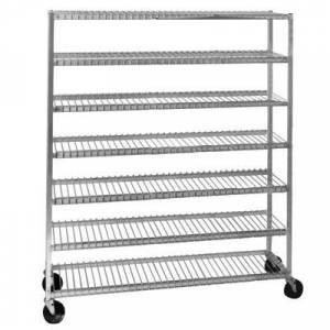 Channel Manufacturing Inc. Channel 568 7 Shelf Mobile Aluminum Cooling Rack