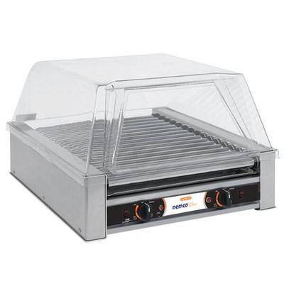 Nemco 8045W-220 Wide Hot Dog Roller Grill - 45 Hot Dog Capacity...