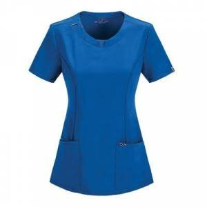 Cherokee Medical Uniforms Infinity-Round Neck Top (Size XS) Royal Blue, Polyester,Spandex
