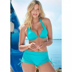 "Venus """"""Marilyn Push UP BRA TOP Push-Up Bikini Tops - Green/blue"""""""