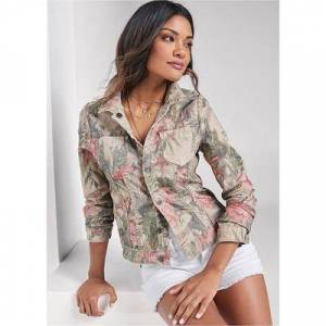 "Venus """"""Reversible Denim Jacket Jackets & Coats - Brown/neutral/multi"""""""